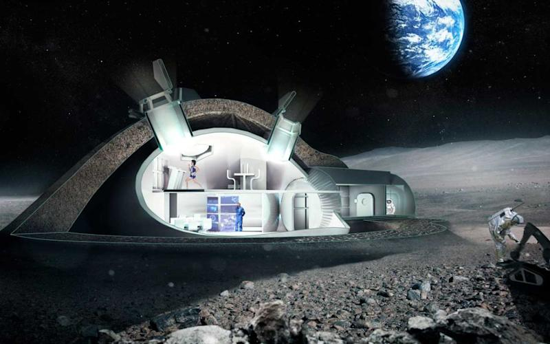 """Inside look at one idea the European Space Agency is exploring in its formulation of a """"moon village"""" that incorporates 3D printing."""