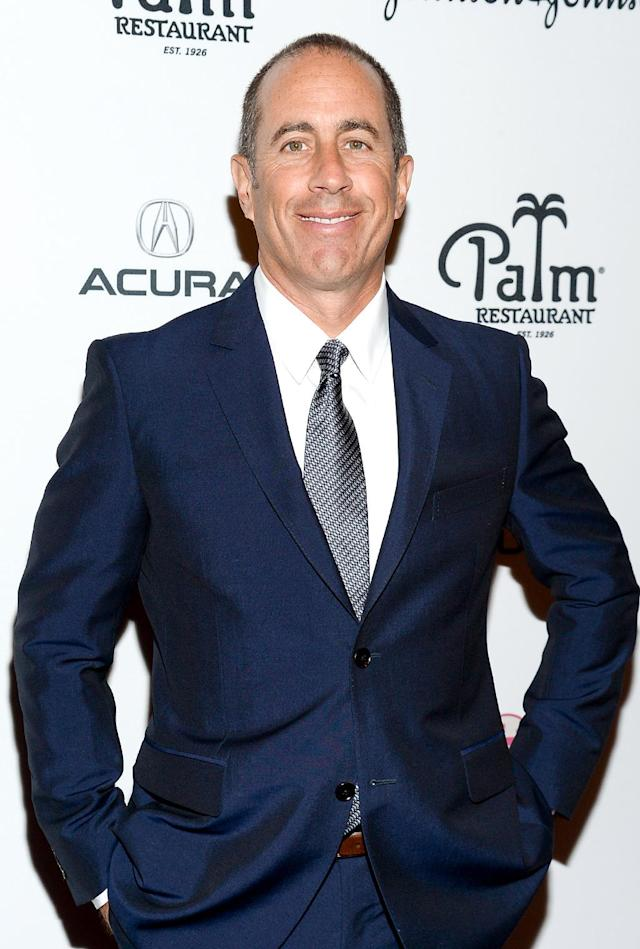 """<p>Jerry Seinfeld isn't just overrated, he's highly overrated. Donald Trump explained how he was unimpressed with the <em>Seinfeld</em> star and took to <span>— </span>where else? <span>— </span>Twitter, to express his feelings. When retweeting a fan, Trump added, """"@kanikagahlaut: Can anyone explain why @JerrySeinfeld is so unfunny on twitter and @realDonaldTrump is so funny?"""" Jerry is highly overrated."""" <a href=""""http://www.hollywoodreporter.com/news/jerry-seinfeld-responds-donald-trump-183357"""" rel=""""nofollow noopener"""" target=""""_blank"""" data-ylk=""""slk:Jerry is actually grateful for Trump"""" class=""""link rapid-noclick-resp"""">Jerry is actually grateful for Trump</a>. At least, he was when Trump was just a presidential hopeful. """"If God gave comedians the power to invent people, the first person we would invent is Donald Trump. … God's gift to comedy,"""" he told <i>Extra</i>. (Photo by Evan Agostini/Invision/AP) </p>"""
