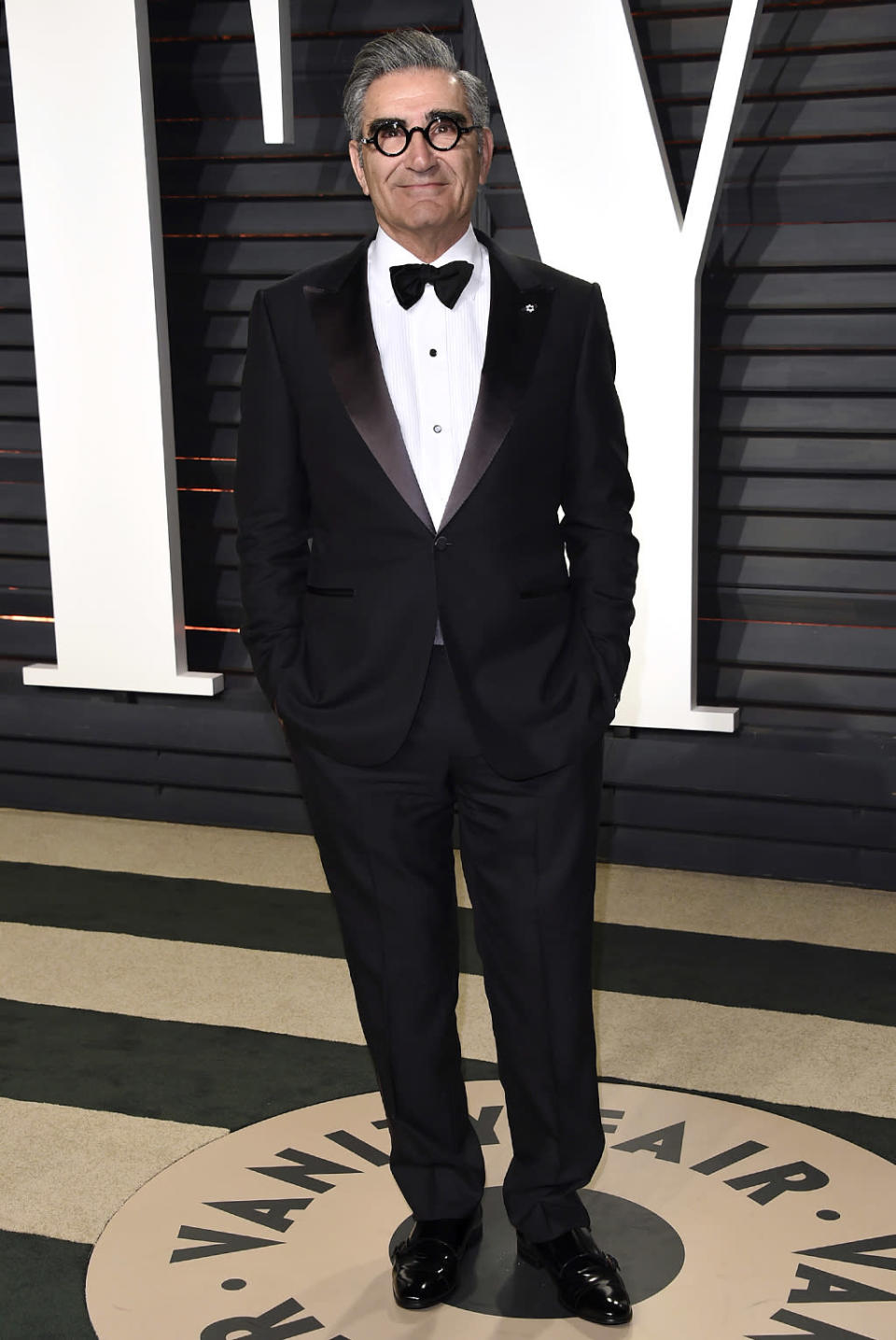 <p>Eugene Levy arrives at the Vanity Fair Oscar Party on Sunday, Feb. 26, 2017, in Beverly Hills, Calif. (Photo by Evan Agostini/Invision/AP) </p>