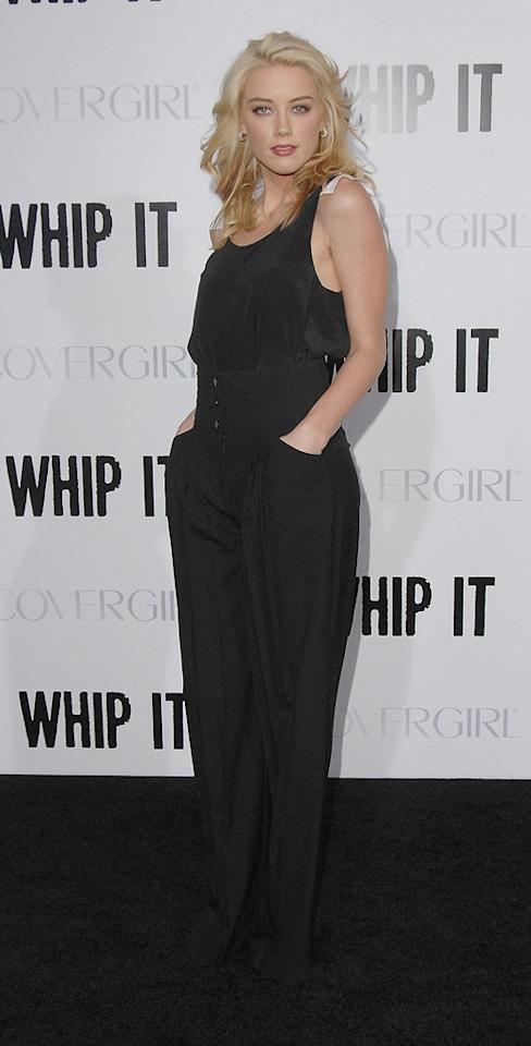 """<a href=""""http://movies.yahoo.com/movie/contributor/1809059761"""">Amber Heard</a> at the Los Angeles premiere of <a href=""""http://movies.yahoo.com/movie/1810036665/info"""">Whip It!</a> - 09/29/2009"""