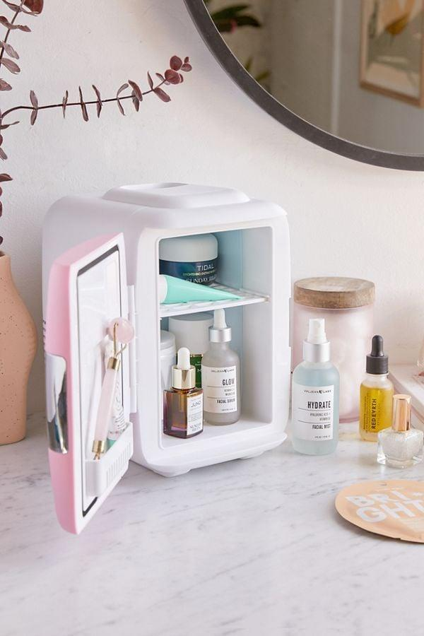 """<p>This <a href=""""https://www.popsugar.com/buy/Cooluli-Mini-Beauty-Refrigerator-542431?p_name=%20Cooluli%20Mini%20Beauty%20Refrigerator&retailer=urbanoutfitters.com&pid=542431&price=60&evar1=savvy%3Auk&evar9=45680954&evar98=https%3A%2F%2Fwww.popsugar.com%2Fsmart-living%2Fphoto-gallery%2F45680954%2Fimage%2F47132806%2FCooluli-Mini-Beauty-Refrigerator&list1=shopping%2Cvalentines%20day%2Cgifts%20for%20women&prop13=api&pdata=1"""" rel=""""nofollow"""" data-shoppable-link=""""1"""" target=""""_blank"""" class=""""ga-track"""" data-ga-category=""""Related"""" data-ga-label=""""https://www.urbanoutfitters.com/shop/cooluli-mini-refrigerator?category=gift-ideas-for-women&amp;color=066&amp;type=REGULAR"""" data-ga-action=""""In-Line Links""""> Cooluli Mini Beauty Refrigerator </a> ($60) is a bestseller right now.</p>"""