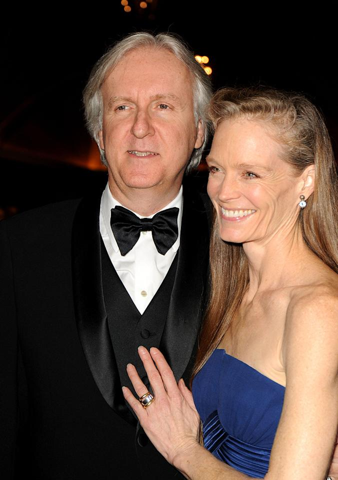 """<a href=""""http://movies.yahoo.com/movie/contributor/1800012402"""">James Cameron</a> and <a href=""""http://movies.yahoo.com/movie/contributor/1800021748"""">Suzy Amis</a> at the 62nd Annual Directors Guild of America Awards in Century City, California on January 30, 2010."""