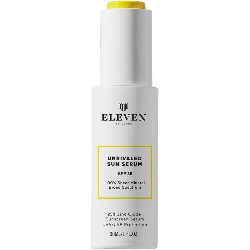 """<p><strong>EleVen by Venus Williams</strong></p><p>ulta.com</p><p><strong>$50.00</strong></p><p><a href=""""https://go.redirectingat.com?id=74968X1596630&url=https%3A%2F%2Fwww.ulta.com%2Funrivaled-sun-serum-spf-35%3FproductId%3Dpimprod2018175&sref=https%3A%2F%2Fwww.marieclaire.com%2Fbeauty%2Fg35799175%2Fbest-zinc-oxide-sunscreens%2F"""" rel=""""nofollow noopener"""" target=""""_blank"""" data-ylk=""""slk:SHOP IT"""" class=""""link rapid-noclick-resp"""">SHOP IT</a></p><p>The creation of pro-tennis star Venus Williams, this mineral sunscreen protects the skin with a near matte finish and won't cause stinging eyes when it meets sweat. If it's Venus Williams approved, it's good enough for me.</p>"""