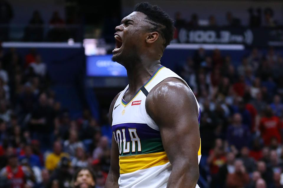 Zion Williamson is a small-ball god. (Jonathan Bachman/Getty Images)