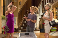 <p>Looks like time hasn't tamed Kimmy Gibbler. She and Stephanie look ready for a night on the town, much to DJ's apparent chagrin. </p><p><i>(Credit: Netflix)</i></p>