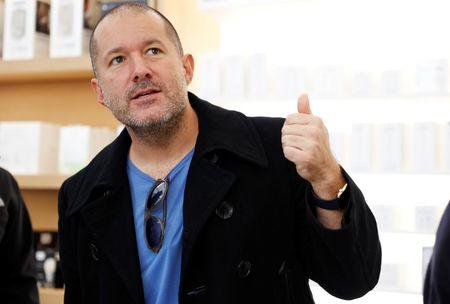 FILE PHOTO: Jonathan Ive of Apple speaks during the opening of the next generation Apple Store in San Francisco, California