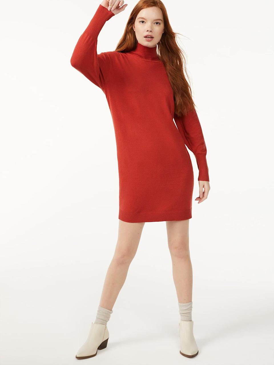 <p>Take note that this crazy-cute <span>Free Assembly Women's Turtleneck Sweater Dress</span> ($30) comes in not one but <em>six </em>colors.</p>