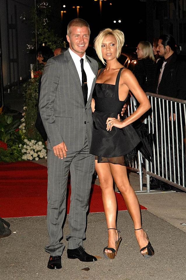 "The guests of honor share a rare moment alone. Team Beckham/<a href=""http://www.splashnewsonline.com"" target=""new"">Splash News</a> - July 22, 2007"