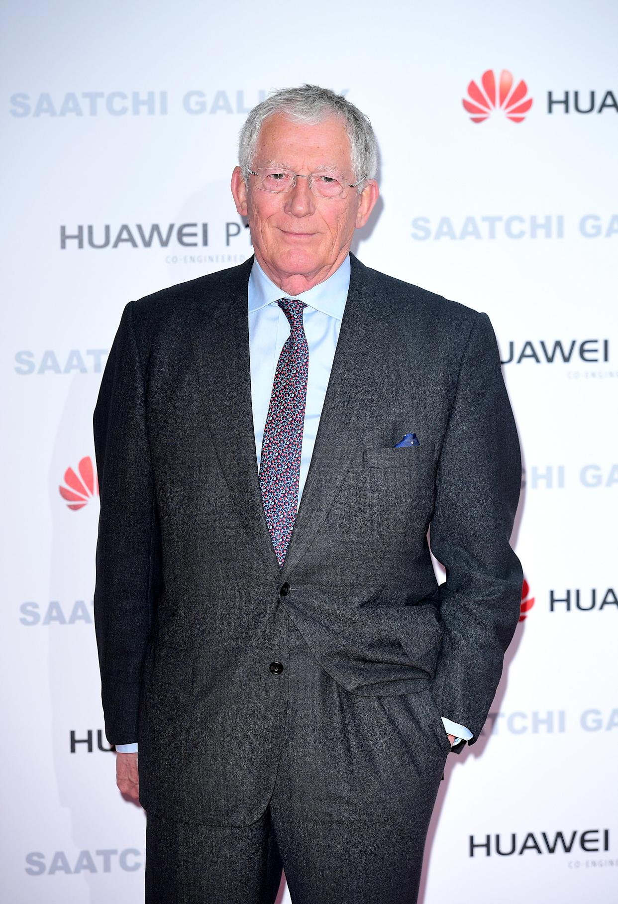 Nick Hewer attending the From Selfie to Self-Expression exhibition at the Saatchi Gallery in London.