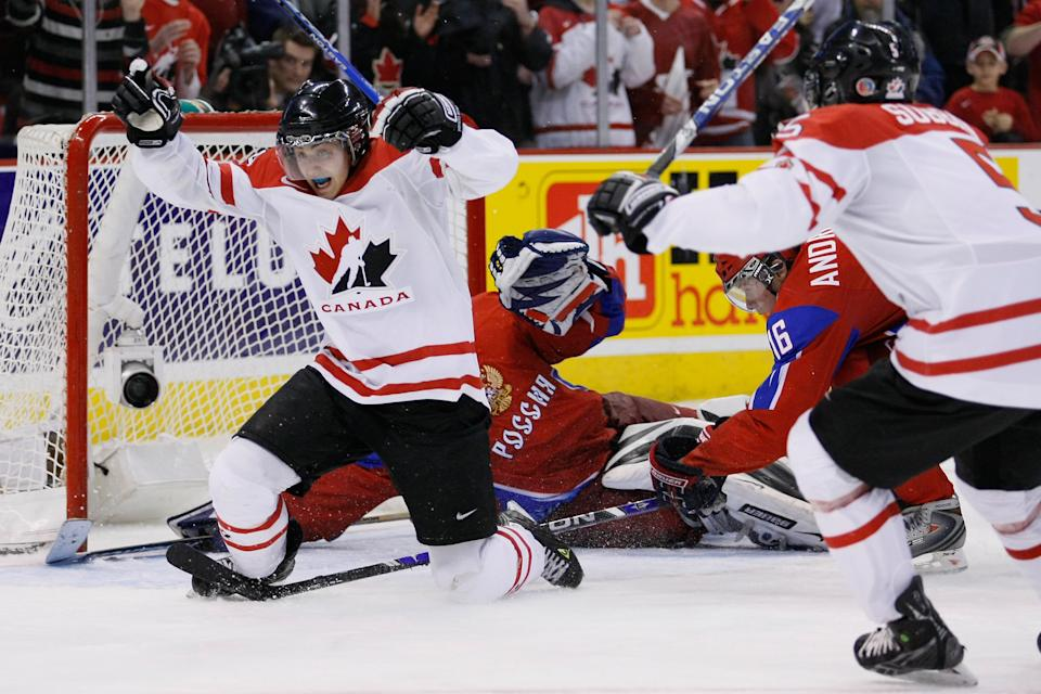 Jordan Eberle had legendary performance at the 2010 world juniors. (Photo by Richard Wolowicz/Getty Images)