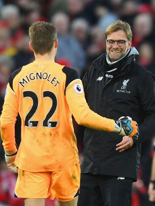 Simon Mignolet has impressed under Jurgen Klopp in 2017