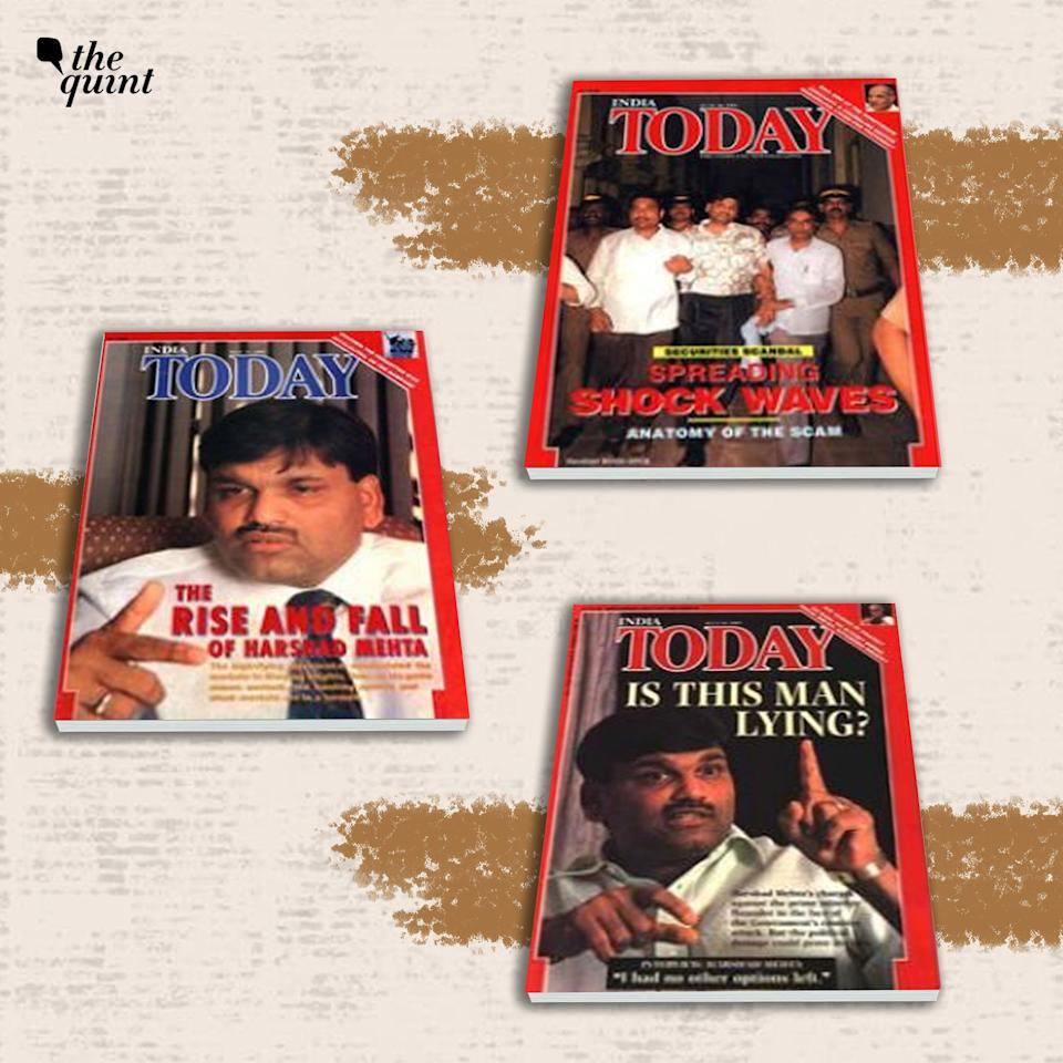 Front-page covers of the <i>India Today</i> magazine on the Harshad Mehta Scam.