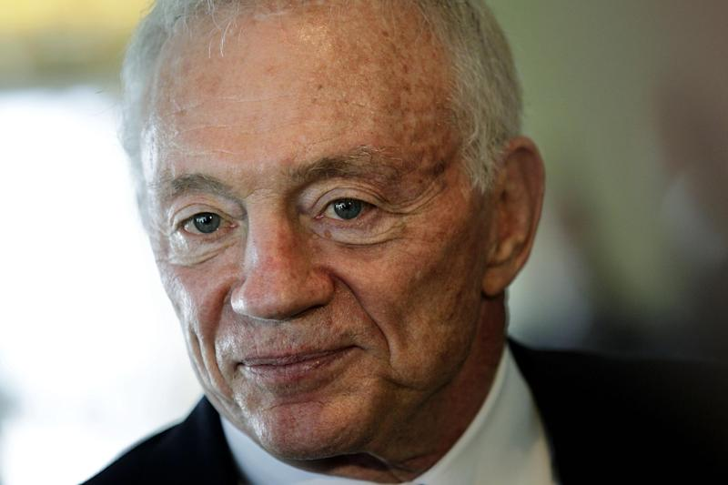 Dallas Cowboys owner Jerry Jones leaves an NFL football owners meeting, Tuesday, May 22, 2012, in Atlanta. (AP Photo/David Goldman)