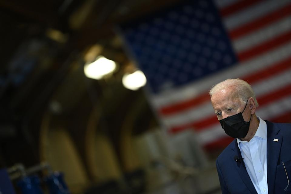 President Joe Biden has expressed skepticism about the legal grounds to cancel $50,000 per person in college debt. (Photo: BRENDAN SMIALOWSKI via Getty Images)