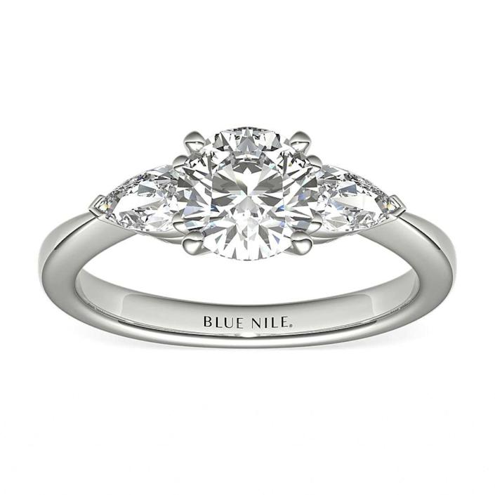 "$3490, Blue Nile. <a href=""https://www.bluenile.com/build-your-own-ring/pear-diamond-engagement-ring-setting-platinum_7808"" rel=""nofollow noopener"" target=""_blank"" data-ylk=""slk:Get it now!"" class=""link rapid-noclick-resp"">Get it now!</a>"
