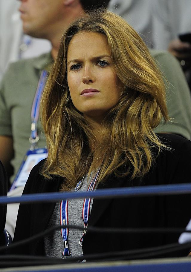 British tennis player Andy Murray's girlfriend Kim Sears watches his US Open third match against Spain's Feliciano Lopez at the USTA Billie Jean King National Tennis Center in New York on September 4, 2011. AFP PHOTO/Emmanuel Dunand (Photo credit should read EMMANUEL DUNAND/AFP/Getty Images)