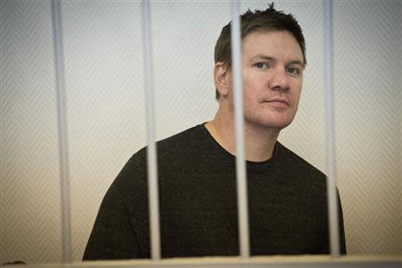 Greenpeace International activist Perrett attends a bail hearing at a court in Murmansk