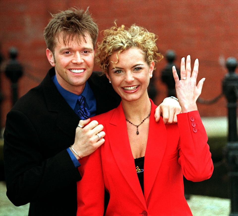 Darren Day and Tracy Shaw announced their engagement in 1998. (PA)