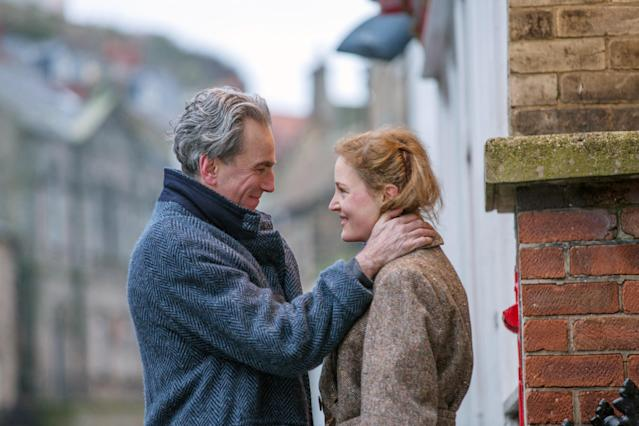 Day-Lewis and Krieps in <em>Phantom Thread.</em> (Photo: Laurie Sparham /© Focus Features /Courtesy Everett Collection)
