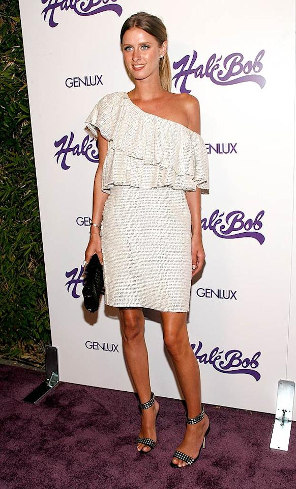"Apparently Nicky Hilton also loves the fashion label, which specializes in ugly, overpriced pattern and print dresses. Michael Bezjian/<a href=""http://www.wireimage.com"" target=""new"">WireImage.com</a> - July 9, 2008"