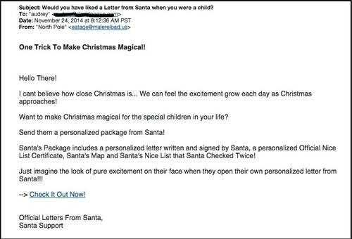 Beware the santa claus letter scam letters from santa spam spiritdancerdesigns Choice Image
