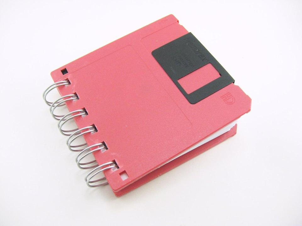 <p>Harken back to the good ol' days of floppys with a funky <span>Floppy Disk Notebook</span> ($8). </p>