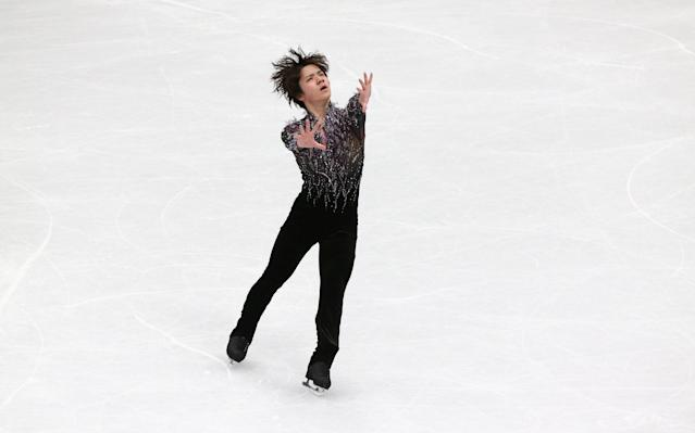 Figure Skating - World Figure Skating Championships - The Mediolanum Forum, Milan, Italy - March 22, 2018 Japan's Shoma Uno during the Men's Short Programme REUTERS/Alessandro Bianchi
