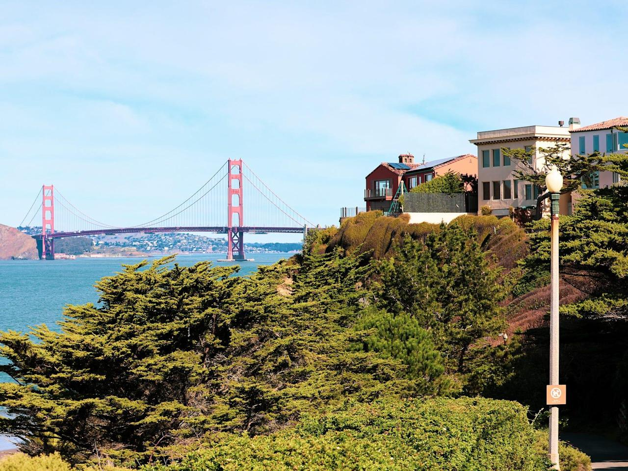 San Francisco's Sea Cliff neighborhood, where Twitter CEO Jack Dorsey owns $30 million worth of homes, is a parade of oceanside mansions. Here's what it's like inside.