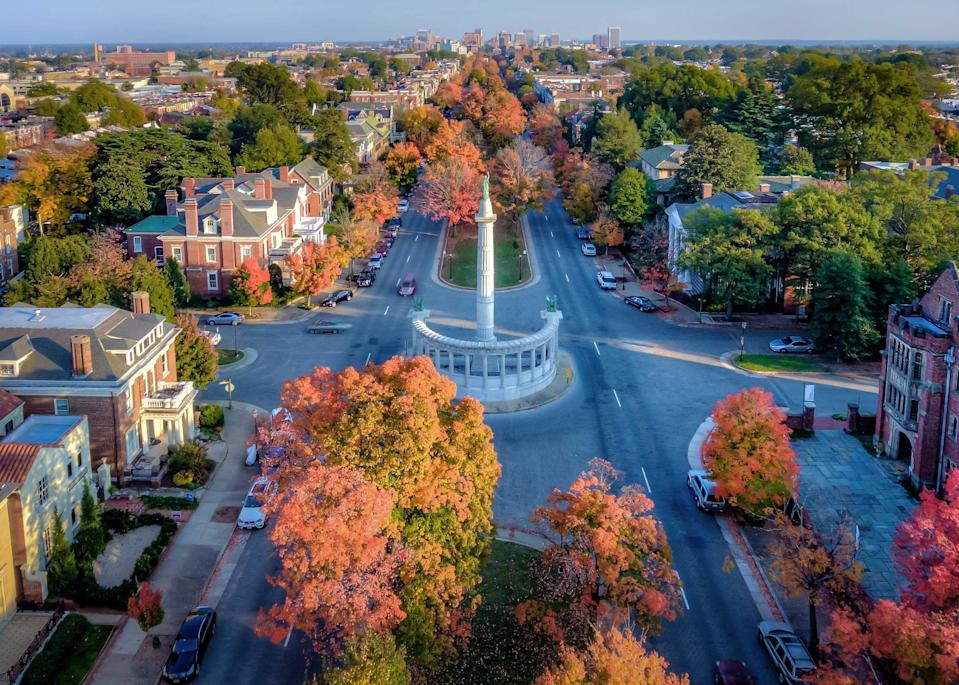 """<p>February is Black History Month, and <a href=""""https://www.cntraveler.com/stories/2015-09-18/why-richmond-virginia-is-cool?mbid=synd_yahoo_rss"""" rel=""""nofollow noopener"""" target=""""_blank"""" data-ylk=""""slk:this southern city"""" class=""""link rapid-noclick-resp"""">this southern city</a> has worked hard to address its role in the slave trade—a pivotal one, as it was the point of origin for one in four African-Americans. The 17-stop, self-guided Richmond Slave Trail remains a sobering, timely reminder of the city's history, taking visitors from the Manchester Docks to the First African Baptist Church. The 29,000-square-foot American Civil War museum, meanwhile, reopened in May 2019 after a $13.5 million reboot—an effort by the museum's CEO Christy Coleman to better educate the public on the region's difficult history. The city also stages pop-ups and events every February: In 2021, Michael-Birch Pierce, a local artist and fashion designer, has collaborated on a new mural to celebrate the inauguration of Kamala Harris, the first female, first Black, and first South Asian vice president. <a href=""""https://mendingwallsrva.com/"""" rel=""""nofollow noopener"""" target=""""_blank"""" data-ylk=""""slk:Mending Walls"""" class=""""link rapid-noclick-resp""""><em>Mending Walls</em></a> is another mural-based program, with 16 artworks by pairs of artists, selected for their differing cultures and backgrounds.</p> <p>\</p>"""