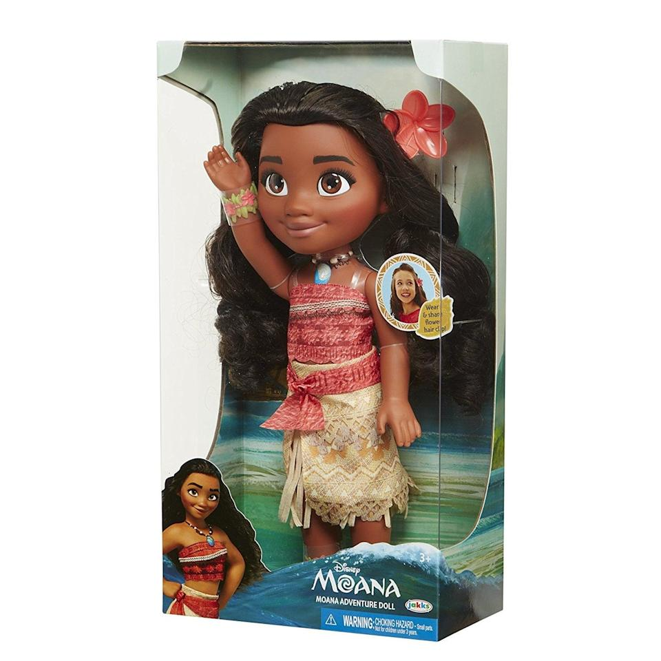"<p>Fans of the movie will flip for this <a href=""https://www.popsugar.com/buy/Disney-Moana-Adventure-Doll-105575?p_name=Disney%20Moana%20Adventure%20Doll&retailer=amazon.com&pid=105575&price=25&evar1=moms%3Aus&evar9=25800161&evar98=https%3A%2F%2Fwww.popsugar.com%2Fphoto-gallery%2F25800161%2Fimage%2F44870092%2FDisney-Moana-Adventure-Doll&list1=gifts%2Choliday%2Cchristmas%2Cgift%20guide%2Cparenting%2Ctoddlers%2Ckid%20shopping%2Choliday%20for%20kids%2Cgifts%20under%20%2450%2Cgifts%20under%20%2475%2Cgifts%20for%20toddlers%2Cbest%20of%202019&prop13=api&pdata=1"" class=""link rapid-noclick-resp"" rel=""nofollow noopener"" target=""_blank"" data-ylk=""slk:Disney Moana Adventure Doll"">Disney Moana Adventure Doll</a> ($25).</p>"