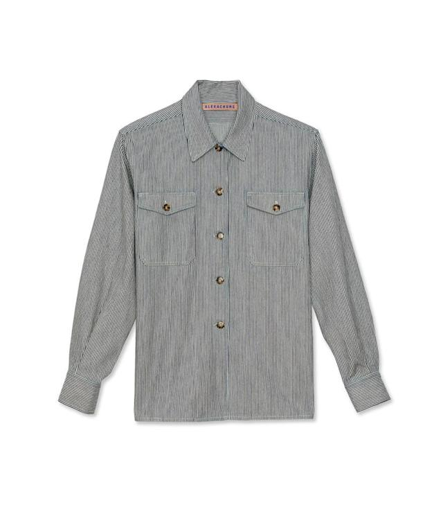 "<p>Patch pocket shirt, $290 (on sale $145), <a href=""https://www.alexachung.com/row/patch-pocket-shirt-ecru-99"" rel=""nofollow noopener"" target=""_blank"" data-ylk=""slk:alexachung.com"" class=""link rapid-noclick-resp"">alexachung.com</a> </p>"