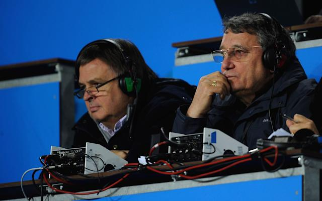 Moving on: Alan Green (left) with former BBC Radio colleague, the late Graham Taylor, in 2009 - 2009 Getty Images
