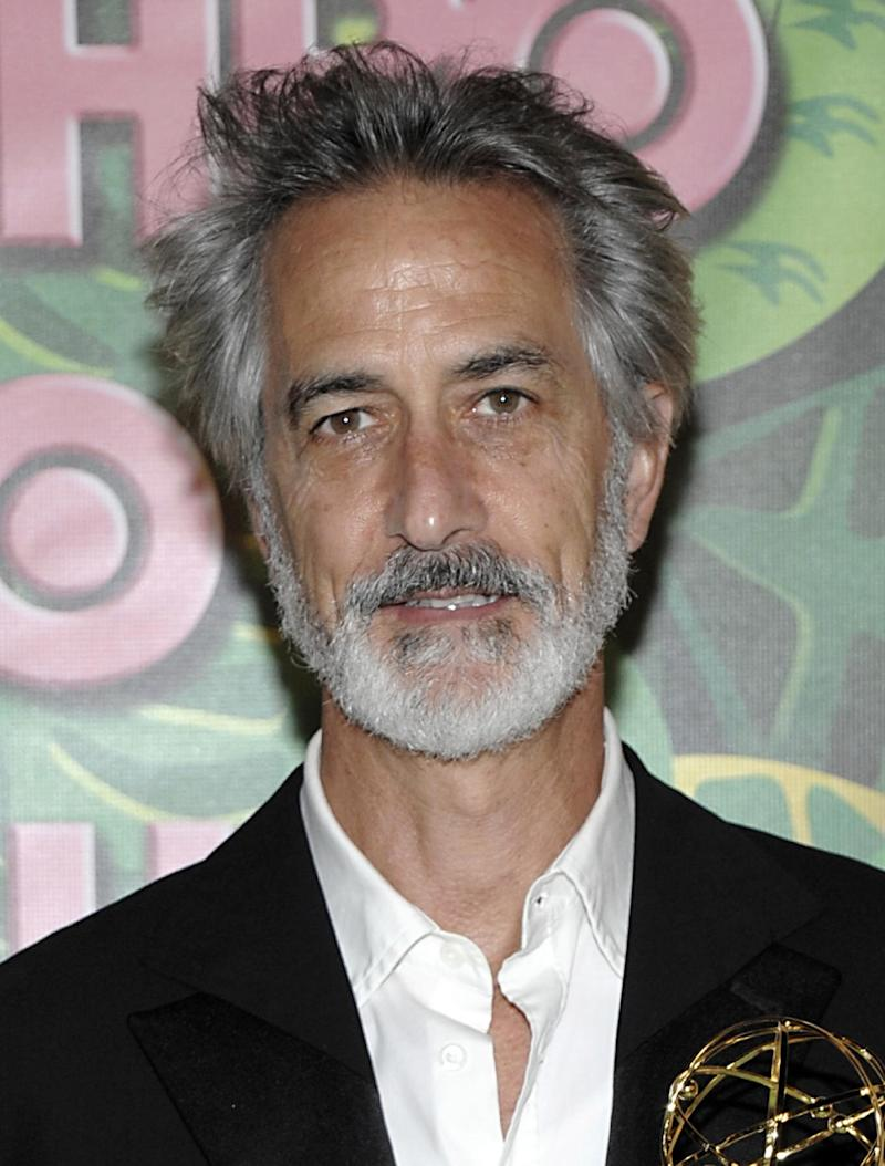 """FILE - In this Aug. 29, 2010 file photo, actor David Strathairn arrives at the HBO Emmy party in West Hollywood, Calif. Producers announced Thursday, March 15, 2012, that Strathairn will star in the play opposite Jessica Chastain in """"The Heiress,"""" opening in the Fall of 2012.   (AP Photo/Dan Steinberg, file)"""
