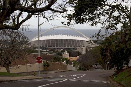 FILE PHOTO: A general view of Moses Mabhida Stadium in Durban