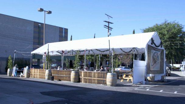 PHOTO: Angela Marsden's Pineapple Hill Grill and Saloon has had outdoor seating since last summer.   (ABC News )