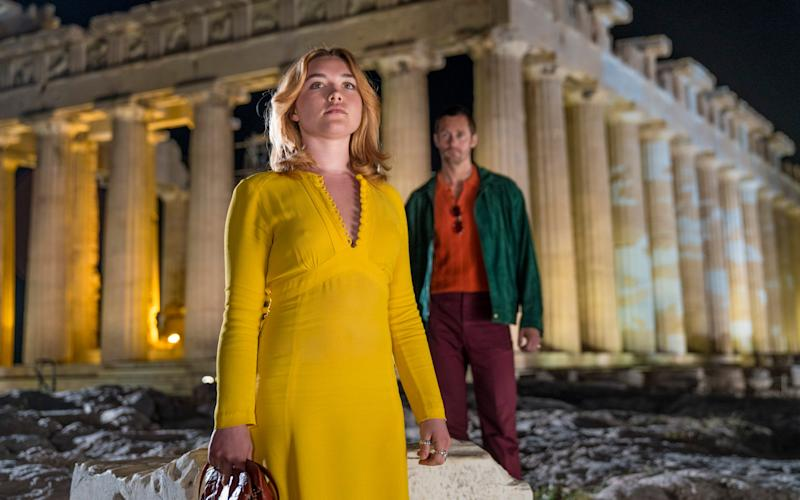 Florence Pugh and Alexander Skarsgård as Charlie and Becker in The Little Drummer Girl  - © 2018 The Little Drummer Girl Distribution Limited. All rights reserved.