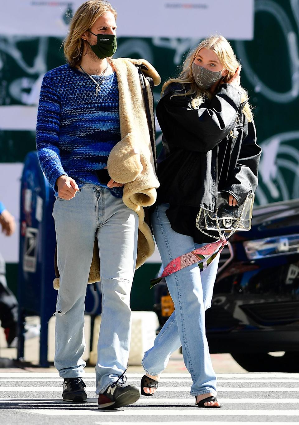 <p>Elsa Hosk and Tom Daly head out to take a walk through Soho on Wednesday in N.Y.C.</p>