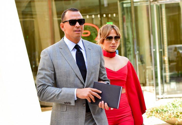 Alex Rodriguez and Jennifer Lopez, pictured on April 3, are cruising forward with their romance. (Photo: Getty Images)