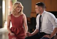 """<p>If she could go back and swap looks with one of her <strong>Glee</strong> costars for a day, Ushkowitz said, without hesitation: <a class=""""link rapid-noclick-resp"""" href=""""https://www.popsugar.com/Dianna-Agron"""" rel=""""nofollow noopener"""" target=""""_blank"""" data-ylk=""""slk:Dianna Agron"""">Dianna Agron</a> (who played Quinn Fabray). """"Oh my God, she's so pretty,"""" said Ushkowitz. """"She's a natural beauty and Quinn always had beautiful summer dresses on. You'd be like, 'I would wear that.' Whereas Tina had huge lace chokers and steampunk [outfits], which is definitely a far cry from me.""""</p>"""