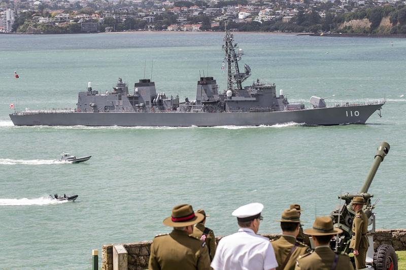 Japanese Warship Steers Clear of Trump Risk in Mideast Mission