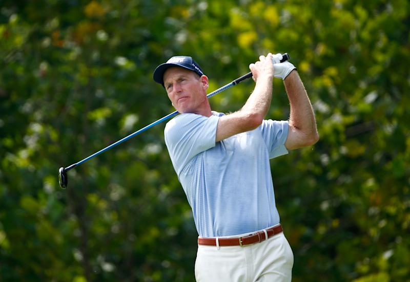 Golf - Furyk joins 2014 major champs in Grand Slam event