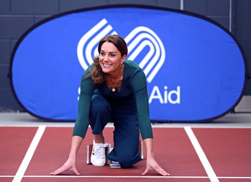 The Duchess of Cambridge, during a SportsAid event at the London Stadium in Stratford, London. PA Photo. Picture date: Wednesday February 26, 2020. See PA story ROYAL Kate. Photo credit should read: Yui Mok/PA Wire