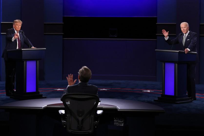 Trump and Biden at the Sept. 29 debate. They're even further apart on economic policy than they were on stage.