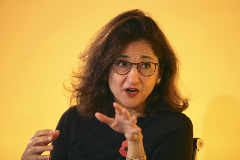 Deputy Governor, Markets and Banking, Bank of England, Minouche Shafik at the Bank of England Open Forum 2015 at Guildhall in London.