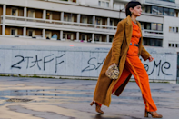 <p>This retro favorite is still going strong today. Not to mention, it's super cozy and is the perfect top layer to a vintage-inspired look. Take a cue from Maria Bernad and try a perfectly autumnal color palette.</p>