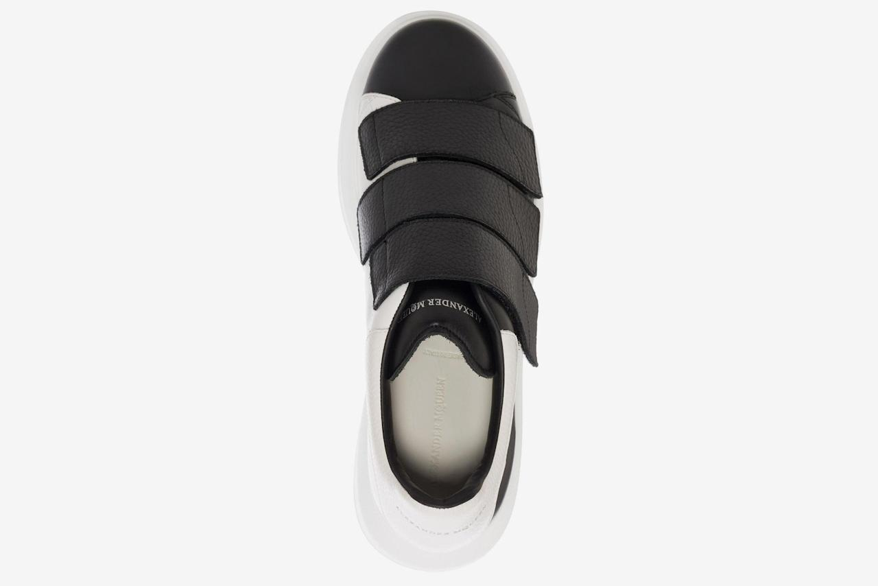 "<p><em>$575, buy now at <a rel=""nofollow"" href=""http://www.alexandermcqueen.com/us/alexandermcqueen/sneakers_cod11116187wk.html?mbid=synd_yahoostyle#dept=m_sneakers_spl"">alexandermcqueen.com</a></em></p>"