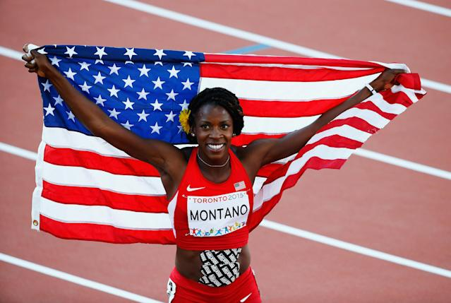 Alysia Montano will finally be awarded two bronze medals she earned in 2011, 2013 after the Russian doping scandal was brought to light. (Al Bello/Getty Images)