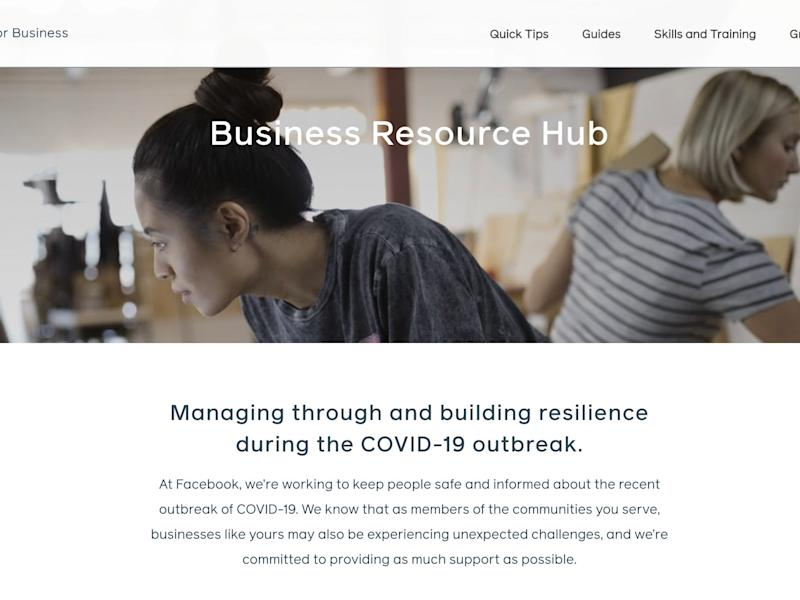 facebook business resource hub