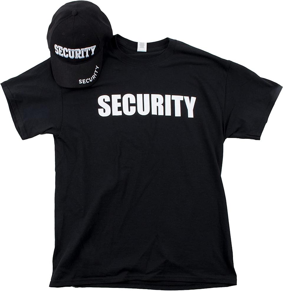 Security Hat and matching T-Shirt