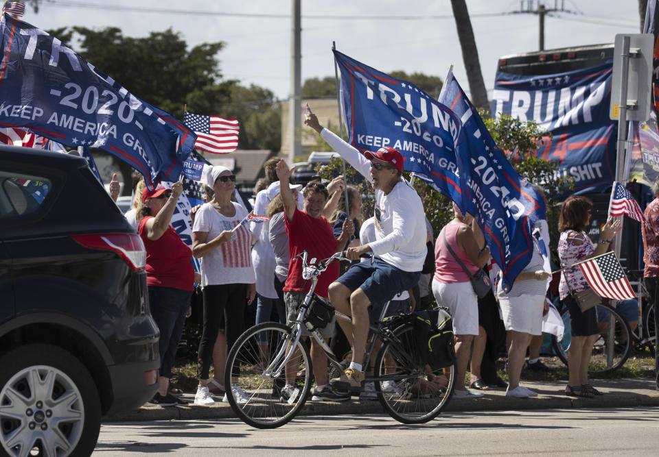 Supporters of former President Donald Trump